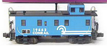 MTH Premier Conrail rivited steel offset cupola Caboose , 3 rail