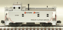 MTH Premier SP (silver)  rivited steel offset cupola Caboose , 3 rail