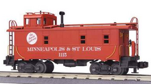 MTH Premier M&StL  rivited steel offset cupola Caboose , 3 rail
