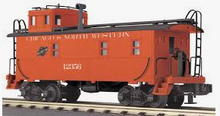 MTH Railking Scale C&NW  rivited steel offset cupola Caboose , 3 rail