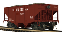 MTH Premier Southern Rwy 2-Bay Fishbelly Hopper w/Coal Load, 3 rail