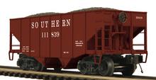 MTH Premier Southern Rwy 2-Bay Fishbelly Hopper w/Coal Load, 3 rail