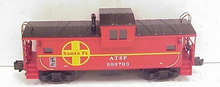 MTH Premier Santa Fe (red) Extended Vision Caboose , 3 rail
