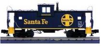 MTH Premier Santa Fe (blue) Extended Vision Caboose , 3 rail