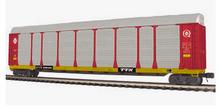 MTH Premier  Santa Fe/TTGX Corrugated Auto Carrier, 3 rail