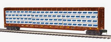 MTH Premier Wisconsin Central 75' Center Beam bulkhead Flat Car w/Dimesional Lumber Load, 3 rail