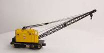 MTH Railking Scale PRR American Crane car, 3 rail