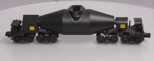 "MTH Premier  Black Hot Metal ""bottle"" car, 3 rail"
