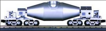 "MTH Premier  Silver Hot Metal ""bottle"" car, 3 rail"