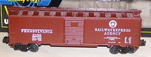 Weaver  PRR-REA 1920's-1960's ARA 40' box car, 3 rail or 2 rail