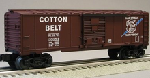 Weaver Cotton Belt (SSW)  1920's-1960's ARA 40' box car, 3 rail or 2 rail