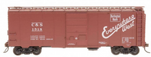 Weaver C&S  (burlington) 1920's-1960's ARA 40' box car, 3 rail or 2 rail