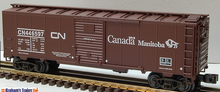 Weaver CN (manitoba grain)1920's-1960's ARA 40' box car, 3 rail or 2 rail