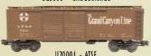 Weaver Santa Fe (Grand Canyon) 1920's-1960's ARA 40' double door box car, 3 rail or 2 rail