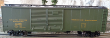 Weaver GTW baggage service  1920's-1960's ARA 40' Double door box car, 3 rail or 2 rail