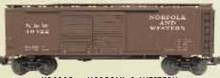 Weaver N&W   1920's-1960's ARA 40' Double door box car, 3 rail or 2 rail