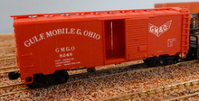 Weaver GM&O (red) 1920's-1960's ARA 40' box car, 3 rail or 2 rail