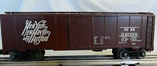 Weaver NH  special run (script, brown) 1920's-1960's ARA 40' box car, 3 rail or 2 rail