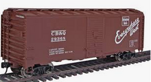 Crown (weaver)  CB&Q (burlington) ARA 40' box car, 3 rail or 2 rail