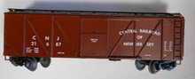 Weaver  CNJ outside braced (wood) box car, 3 rail or 2 rail