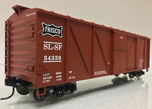 Crown Model Products (Weaver) Frisco (SLSF) outside braced (wood) box car, 3 rail or 2 rail