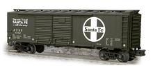 Weaver Santa Fe (dark gray)  1920's-1960's ARA 40' Double door box car, 3 rail or 2 rail