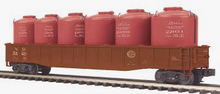 MTH Premier NYC  Gondola  w/ 6 LCL cement Containers, 3 rail