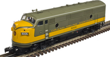 Atlas O GTW  F-3 A-A diesels, both Powered, 2 rail
