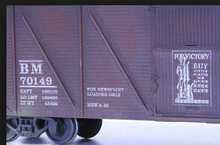 Crown Model Products (Weaver) B&M outside braced (wood) box car, 3 rail or 2 rail