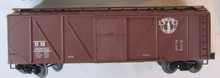 Weaver B&M outside braced (wood) box car, 3 rail or 2 rail
