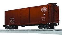 Lionel / Weaver NYC (tuscan) 40' PS-1 box car, 3r or 2r, PLASTIC trucks/couplers