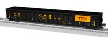 Lionel TTX/railgon 65' mill gondola , 3 rail