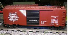 Weaver New Haven (script. DF) 40' PS-1 box car, 3 rail or 2 rail