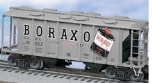 Weaver Boraxo34' PS-2 covered hopper, 2 rail or 3 rail