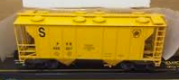 Weaver special run PRR Engine Sand Service (yellow) 34' PS-2 covered hopper, 2 rail or 3 rail