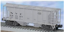Weaver NYC (gray) 34' PS-2 covered hopper, 2 rail or 3 rail