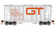 Weaver GTW (gray, red letters) 34' PS-2 covered hopper, 2 rail or 3 rail