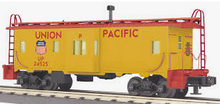 MTH Railking Scale UP (yellow)  Bay Window Caboose, 3 rail