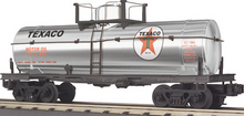 MTH Railking  Texaco silver plated Tank Car, 3 rail