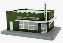 MTH  Sarge's Military Supply Single Story Opposite Corner Store