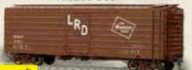 Weaver MILW ribbed side box car, Logo only, w/ LRD on door