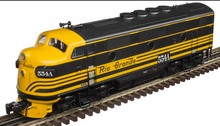 Atlas O Rio Grande F-3 A-B-B-A Diesel set, matching #'s, all powered, 3 rail