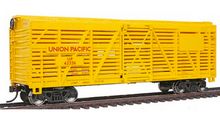 Weaver UP (yellow)  40' stock car, 3 or 2 rail