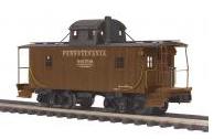 MTH Premier PRR N-6B style wood caboose, 3 rail