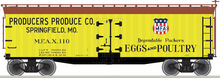 Pre-order for Atlas O Producers Produce  40' Wood Reefer, 3 rail or 2 rail