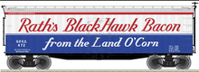 Pre-order for Atlas O  Rath's  Blackhawk 40' Wood Reefer, 3 rail or 2 rail