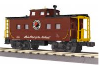 MTH Railking Scale NP (tuscan)  northeastern  style Caboose, 3 rail
