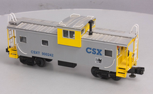 MTH Premier CSX extended vision caboose, 3 rail