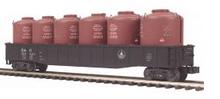 MTH Premier B&O  Gondola  w/ 6 LCL cement Containers, 3 rail