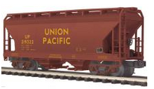 MTH Premier UP 2-Bay Centerflow Covered Hopper, 3 rail